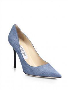 345.00$ Watch here - http://viity.justgood.pw/vig/item.php?t=l0zi5b39340 - NIB Jimmy Choo Abel Light Blue Denim Pumps Heels 8.5 38.5 ($595)