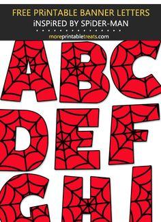Superhero Alphabet, Superhero Party, Spiderman Theme Party, Manly Party Decorations, Birthday Party Decorations Diy, Fête Spider Man, Spider Man Party, Ideas Decoracion Cumpleaños, Imprimibles Toy Story