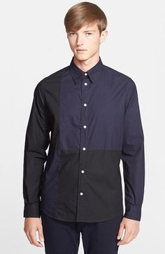 Men's Paul Smith Jeans Classic Fit Colorblock Shirt