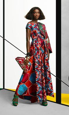 "noiresculture: "" global-fashions: Gaye McDonald - Vlisco / photos Barrie Hullegie & Sabrina Bongiovanni / hair/makeup Sandra Govers / #gayemcdonald #fashion #vlisco """