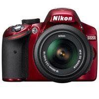 Review Discount Nikon D3200 Digital SLR Camera & 18-55mm G VR DX AF-S Zoom Lens (Red) with 55-300mm VR DX Lens