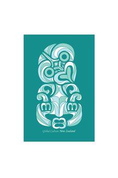 New Zealand summer tiki medium art block - Designed by Global Culture