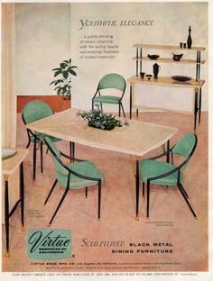 Virtue dining furniture, 1950s