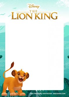 Free Invitation Templates, Free Printable Birthday Invitations, Kids Birthday Party Invitations, Templates Free, Disney Invitations, Jungle Theme Birthday, Lion King Birthday, Wild One Birthday Party, Ideas Party