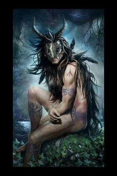 """Cernunnos, god of animals.Cernunnos is the conventional name given in Celtic studies to depictions of the """"horned god"""" of Celtic Mythological Creatures, Mythical Creatures, Wiccan, Witchcraft, Magick, Dark Romance, Male Witch, Oil Canvas, Pagan Gods"""
