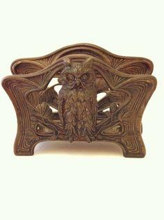 Bronze Owl Letter Holder  Art Nouveau Bronze Owl  Judd by Comforte, $68.00