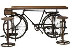 """Acquire fantastic recommendations on """"bar furniture ideas houses"""". They are offered for you on our web site. Bicycle Bar, Bicycle Decor, Pallet Furniture Designs, Metal Furniture, Furniture Ideas, Rustic Kitchen Cabinets, Farmhouse Style Kitchen, Home Bar Areas, Wooden Bar Stools"""