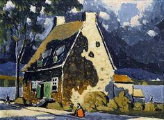 Vieille maison à Lachine (c. 1925) - Marc-Aurèle Fortin Canadian Painters, Canadian Artists, Watercolor Landscape, Landscape Paintings, Quebec, Art Bleu, Art Eras, National Art, Impressionism