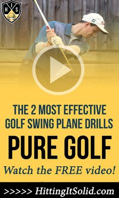 Learn The 2 Most Effective Golf Swing Plane Drills Leading To Pure Impact Golf Swing For Beginners, Golf Shafts, Golf Score, Golf Putting Tips, Club Face, Golf Instruction, Golf Lessons, Yoga Benefits, Play Golf