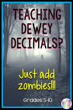 Help your students navigate the library with this fun, memorable zombie story! This PowerPoint story goes through all 10 Dewey Decimal classifications and helps students remember them. Library Skills, Library Lessons, Library Ideas, Middle School Libraries, Elementary Library, Dewey Decimal Classification, Library Orientation, Dewey Decimal System, Social Studies Notebook