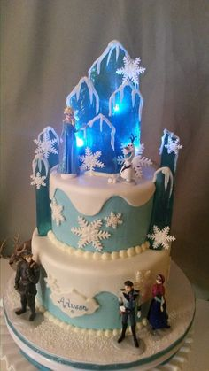 Disney Frozen Cake, Frozen Party, Frozen Birthday Theme, Birthday Parties, Elsa Cakes, Princess Cakes, Party Buffet, Cake Images, Cake Decorating Techniques