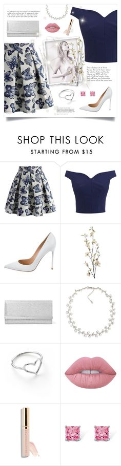 """""""NOT MY BEST #6"""" by paradiselemonade ❤ liked on Polyvore featuring Chicwish, Gianvito Rossi, Pier 1 Imports, Jimmy Choo, Carolee, Jordan Askill, Lime Crime and Palm Beach Jewelry"""