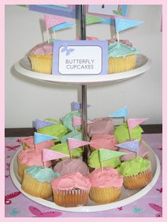 BUTTERFLY BIRTHDAY PARTY CUPCAKES