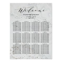 Customizable Poster made by Zazzle Art. Personalize it with photos & text or shop existing designs! Black And White Wedding Theme, Striped Wedding, Gold Wedding Invitations, Wedding Calligraphy, Candy Bar Wedding, Wedding Details Card, Seating Plan Wedding, Seating Charts, Infographic Templates