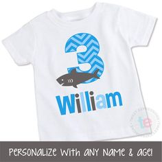 Hey, I found this really awesome Etsy listing at https://www.etsy.com/listing/220043357/shark-birthday-shirt-personalized-shark