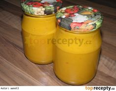 Cuketovo - dýňová hořčice Pumpkin Squash, Preserves, Pickles, Zucchini, Kimchi, Mustard, Frozen, Food And Drink, Salsa