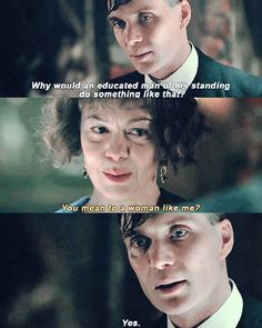 Peaky Blinders - Tommy and Polly 💜 Peaky Blinders Tv Series, Peaky Blinders Thomas, Peaky Blinders Quotes, Cillian Murphy Peaky Blinders, Aunt Polly Peaky Blinders, Cillian Murphy Tommy Shelby, Peeky Blinders, Steven Knight, His Dark Materials