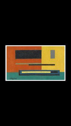 """Mauro Reggiani - """" Composizione """", 1935 - Olio su tela - 16,3 x 27,4"""