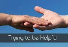 Andere menseen kunnen en willen helpen 👍😙