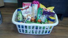 My pregnancy gift basket!