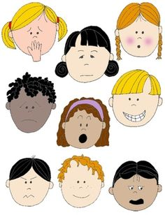 Kids in Action: Faces 2 Clip Art 18 FREE pngs to Show Feelings and Emotions | by Rebekah Brock | $Free