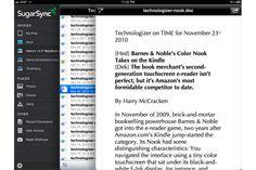 SugarSync for iPad: Data is everywhere you go.