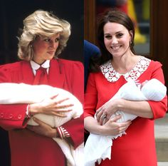 At the first public appearance of royal baby no. Kate Middleton wore a red dress that paid tribute to a red dress Prince Diana wore for Prince Harry's reveal. Princess Diana Dresses, Princes Diana, Kate Middleton Dress, Kate Middleton Style, Duke And Duchess, Duchess Of Cambridge, Princesa Kate, Royal Beauty, Tamar Braxton