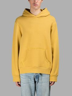 SIMON MILLER Simon Miller Men'S Yellow Hoodie. #simonmiller #cloth #sweaters