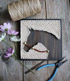 string art horse More (wall art crafts diy) Nail String Art, String Crafts, Crafts To Do, Arts And Crafts, Art Crafts, Wood Crafts, Diy Y Manualidades, String Art Patterns, Doily Patterns