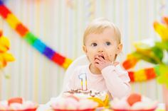 It's Party Time! 57 Creative First Birthday Party Ideas: Congratulations, you've made it through the first year of parenthood! Baby 1st Birthday, First Birthday Parties, First Birthdays, Birthday Ideas, Winter Birthday, Rainbow Birthday, Birthday Cupcakes, Birthday Bash, Birthday Decorations