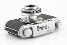 1950s KONICA I Rangefinder 35mm Film Camera Hexar f2.8 50mm Konishiroku Lens #vintage #camera
