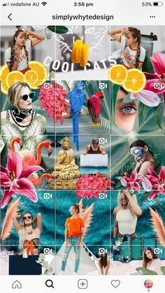 She using an awesome mix of puzzle feed, collages and moving photos. Instagram Design, Muro Instagram, Instagram Planer, Flux Instagram, Instagram Mosaic, Instagram Grid, Instagram Apps, Instagram Feed Planner, Instagram Feed Layout