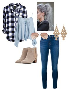 Sunday Haze by ashkat632 on Polyvore featuring Sans Souci, Frame Denim, Golden Goose, Irene Neuwirth and H&M