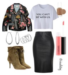 """""""Get in Loser, we're going shopping."""" by visualxtasy on Polyvore featuring Gucci, Relaxfeel, Essie, Aquazzura, MAC Cosmetics, Bling Jewelry, Vince Camuto, women's clothing, women's fashion and women"""