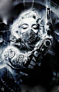 She got a gunwit her,pills and some rum wit her. Marilyn Monroe Wallpaper, Marilyn Monroe Drawing, Marilyn Monroe Tattoo, Marilyn Monroe Quotes, Marylin Monroe, Gangsta Tattoos, Girl Tattoos, Cholo Art, Rock Poster