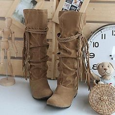 KLM Women's Shoes Slouch Wedge Heel Knee High Boots More Colors available , Beige , US6 / EU36 / UK4 / CN36 Lady shoes http://www.amazon.co.uk/dp/B00XSFXCZ4/ref=cm_sw_r_pi_dp_uvIRvb1DRD5M3