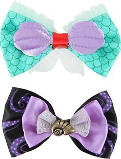 Neon Tuesday - The Little Mermaid 2 Bow Set