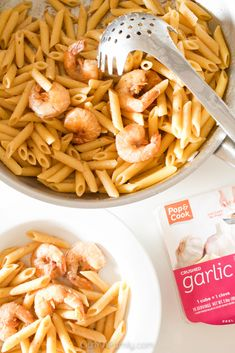 This easy and convenient one pan pasta recipe is made with shrimp, butter, and loads of garlic! It's flavorful, delicious, and perfect for a quick and painless weeknight dinner! ad