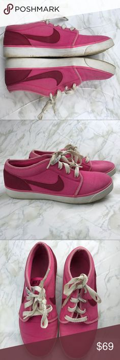 Nike Coast Classic Canvas Two Toned Pink Shoes The super clean Nike Coast Classic is a casual sneaker with subtle style. They have been compared to the Nike Toki and sport a monochromatic canvas upper, low profile sole, and a simple Nike Swoosh application. These sneakers were made to relax in. Whether you wear them to the gym, to class, or to the mall, you'll love the relaxed and classic style. Preowned in good used condition with some wear as pictured. Check out the rest of my closet to…