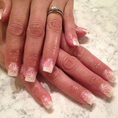 Snowflake nails Snowflake Nails, Snowflakes, Beauty, Snow Flakes, Beauty Illustration