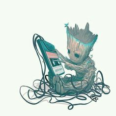 Marvel Universe Guardians of the Galaxy Baby Groot. Heros Comics, Marvel Dc Comics, Marvel Heroes, Captain Marvel, Thor Marvel, Funny Comics, Captain America, Marvel Universe, Bild Tattoos