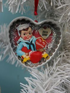 Vintage Style Valentine Ornament