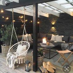 Wooden Pillars, Balkon Design, Outdoor Spaces, Outdoor Decor, Outdoor Patios, Outdoor Kitchens, Outdoor Living Rooms, Outdoor Stuff, Backyard Patio Designs