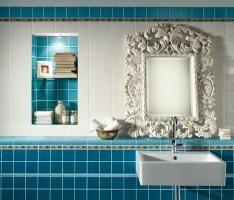 Ceramic and Porcelain Tiles by Bayker. Aqua, Beautiful Bathrooms, Porcelain Tile, Tiles, Mirror, Furniture, Home Decor, Kitchen, Ocean