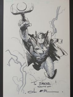Thor sketch by Olivier Coipel