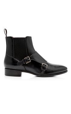 Santoni Double Monk Ankle Boots