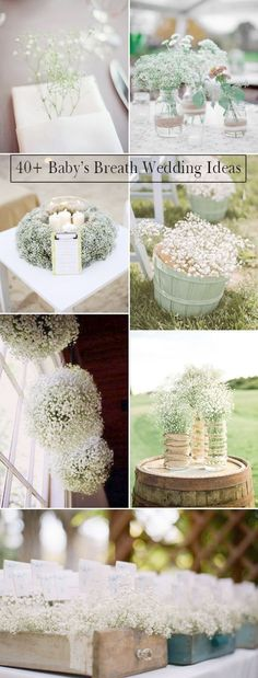 unique wedding ideas with baby's breath decorations- Repinned by Soderbergs Floral & Gift -Minneapolis Florist
