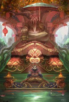 Mists of Pandaria World of Warcraft World Of Warcraft, Art Warcraft, Wow Monk, Pandaren Monk, Fantasy Races, Medieval, Oriental, Wow Art, Starcraft