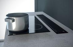 Odsávání z pracovní desky za varnou zónou.( indukce /sklokeramika ) SIRIUS SDD 16 ESSENCE Canning, Design, Technology, Simple Lines, Home Canning, Conservation