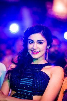 Adah Sharma looked pretty in black at SIIMA Awards 2014. #Bollywood #Fashion #Style #Beauty